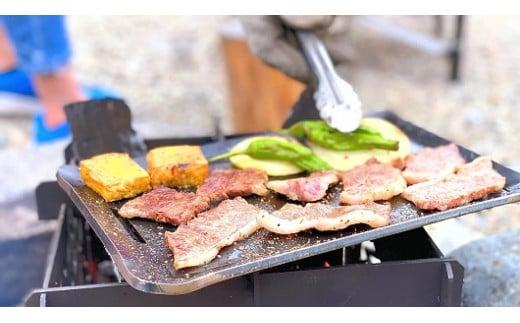 極厚鉄板 M/アウトドアグッズ キャンプ用品 OUTDOOR BBQ 登山用品 ピクニック ソロキャンパー