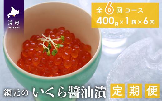 網元のいくら醤油漬(400gx1箱)【全6回定期便】[01-845]