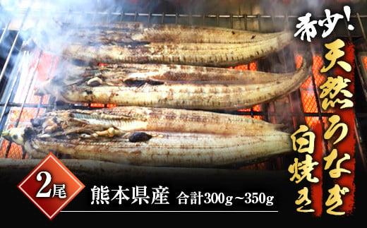 希少!天然 鰻白焼き(2匹)計約300g~350g
