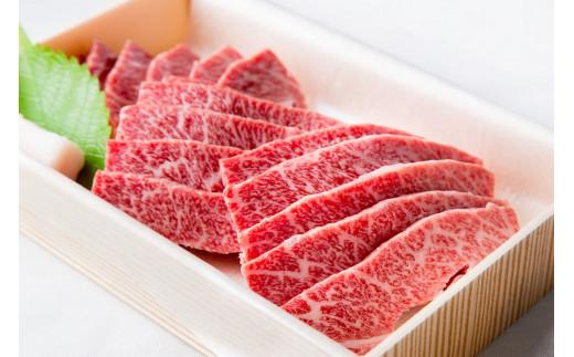 38-3【品評会出品牛】神戸ビーフ牝(バラカルビ焼肉用、400g)<川岸牧場>※冷凍