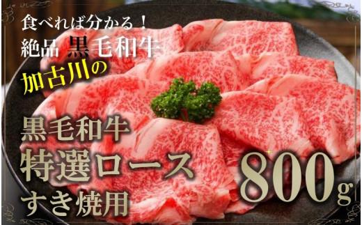 黒毛和牛特選ロースすき焼き用800g