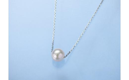 B01-101 真珠スウィングペンダント(シルバー)【宇和島産あこや真珠】