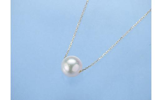 D01-101 真珠スウィングペンダント(K18)【宇和島産あこや真珠】