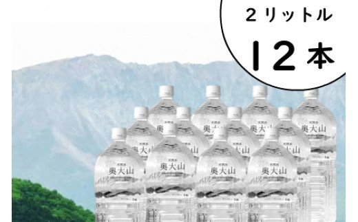 天然水奥大山(ヨーデル) 2L×12本 ミネラルウォーター 軟水 ペットボトル 2リットル 計24リットル PET 0201