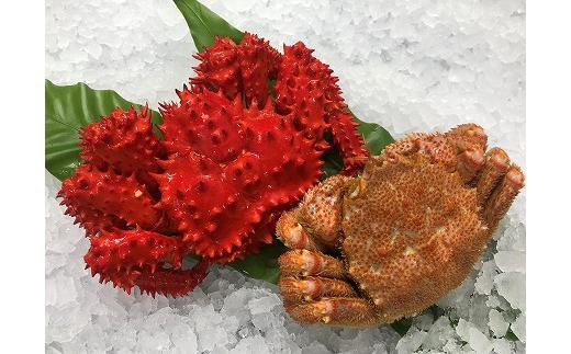 C-54005 【北海道根室産】花咲がに500g前後×2尾と毛ガニ350g前後×2尾セット