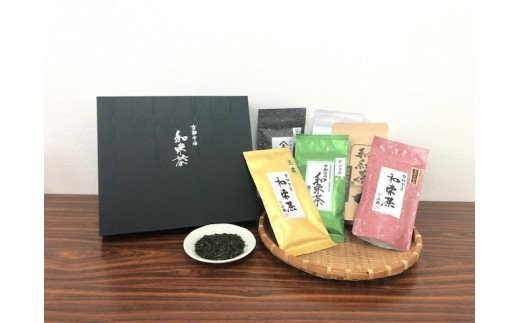 和束茶(5種)と紅茶セット