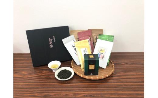 和束茶(5種)と和紅茶・ハーブティー・碾茶のセット