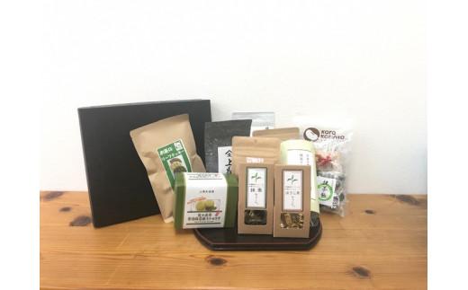 和束茶(3種)とお菓子(8種)とグリーンティのセット