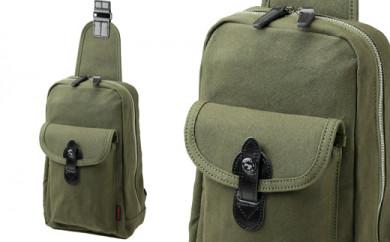 ワンショルダーバッグ 豊岡鞄 Stitch-on ボディバッグ 52195(ベージュ、グリーン)