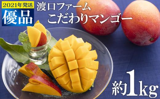 【2021年発送】渡口ファームのこだわりマンゴー約1kg〈優品〉