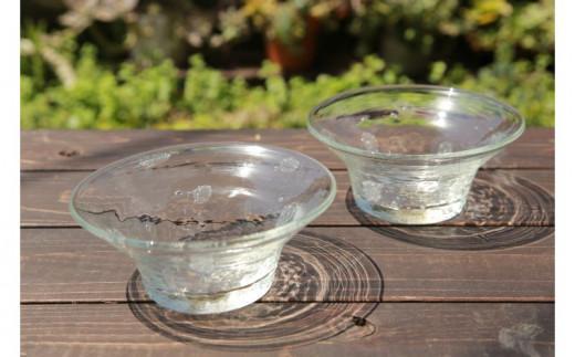 【伝統工芸】ガラス工房雫 水玉泡小鉢2個セット
