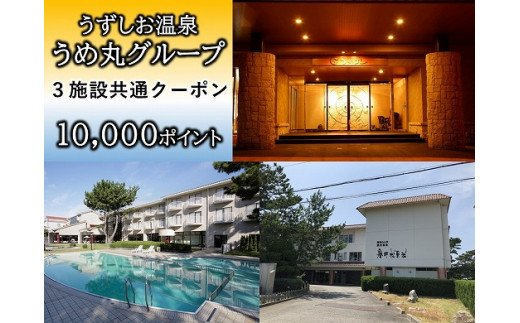うずしお温泉うめ丸グループ【3施設共通クーポン】10000P