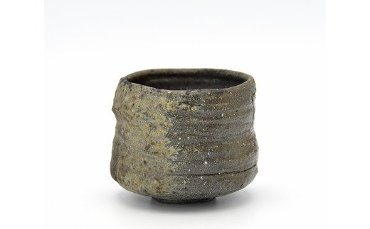 1170-I-002 岡山県重要無形文化財保持者 金重 有邦 作 伊部茶盌(B)
