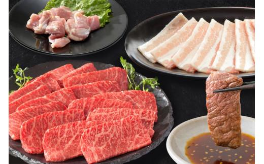 (3回目)焼肉セット(伊万里牛モモ500g、豚300g、鶏300g)※タレ付き【3月頃配送予定】