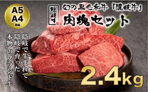 【A5・A4等級】希少部位!黒毛和牛・隠岐牛肉塊セット2.4kg<天然塩付き>