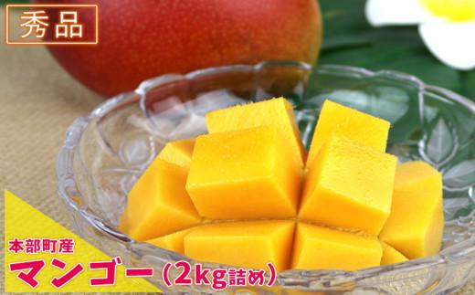 【2021年夏発送】本部町産マンゴー(秀品)(2kg詰め)