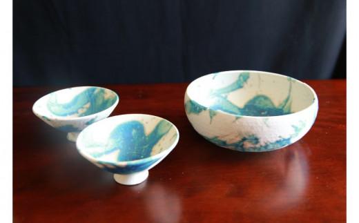 【伝統工芸】志陶房 サラダボウル(大)1個、4寸飯碗2個セット