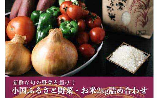 【薬味野菜の里】小国ふるさと野菜の詰め合わせ(お米2kg)