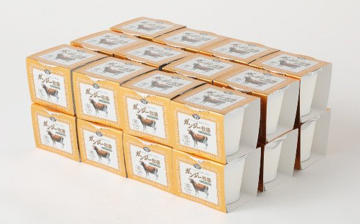 希少なガンジー牛の生乳100% ヨーグルト(加糖) 90g×24個セット