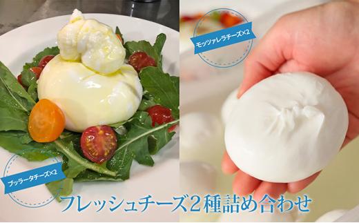 [№5631-0467]ブッラータチーズとモッツァレラチーズの詰め合わせ