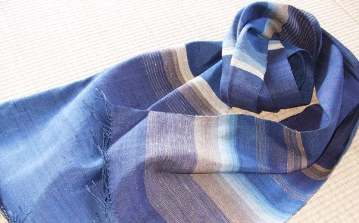 【琉球藍染め 手織り】ストール