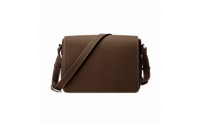豊岡鞄 ショルダーバッグ かぶせ A4対応 チョコ
