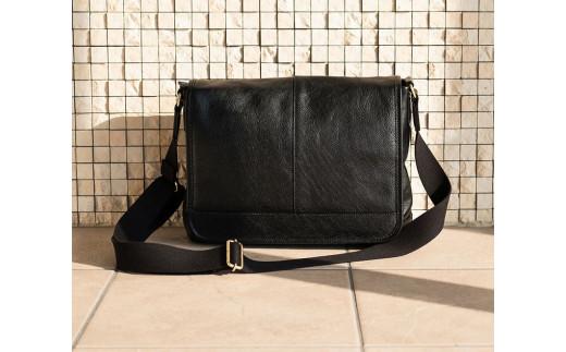 豊岡鞄 皮革横型フラップSD(ブラック)