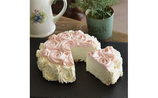 【砂糖不使用】薔薇のレアチーズケーキ[025W02]