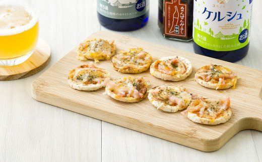 チーズ味のぽんせんは、ピザ風にアレンジをして食べるのもおいしい♪