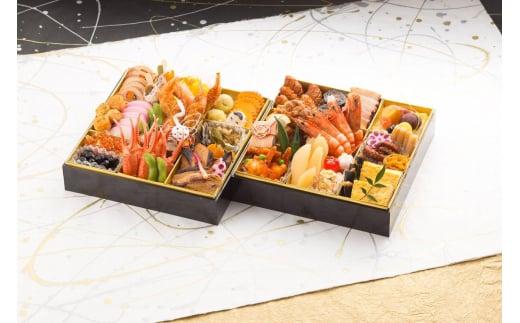 G118【数量限定】2021お届け料理HAKASE謹製おせち二段重「華」