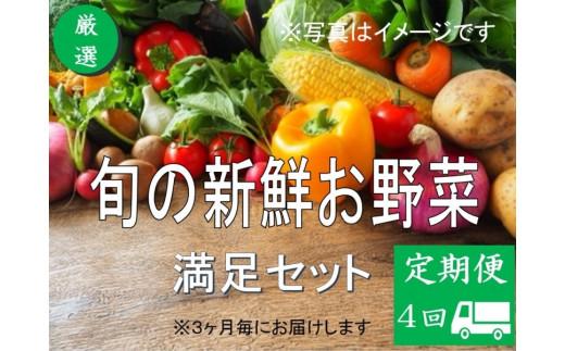 No.1003 大人気!旬の新鮮お野菜 満足セット(詰め合わせ)【定期便4回】