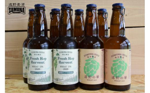 【ビールの里プロジェクト】遠野麦酒ZUMONAフレッシュホップビール8本セット