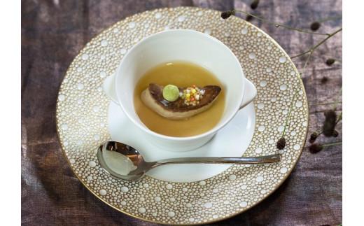 フォワグラの一口茶碗蒸し