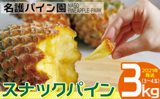 名護パイン園 スナックパイン3kg(3~4玉)【2021年発送】