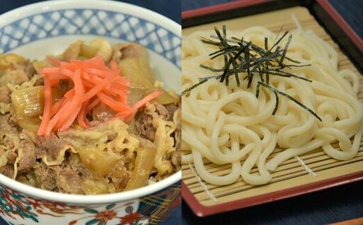【11211-0096】モチモチうどん・牛丼の素セット<冷凍:各1kg>