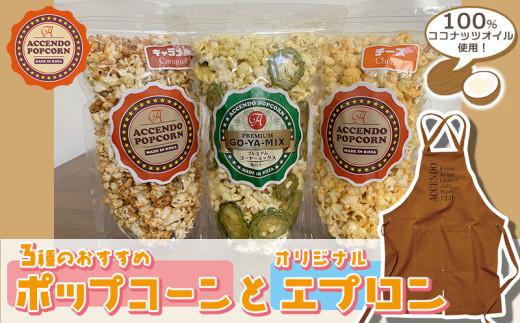 100%ココナッツオイル使用!3種のおすすめポップコーンとオリジナルエプロン