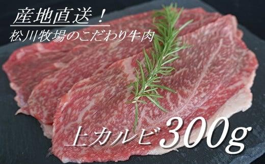 AE-8 【数量限定】松川牧場のこだわり牛肉 上カルビ 300g