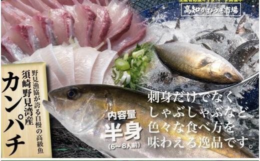 【期間限定!】高級カンパチ 「須崎勘八」お刺身用柵・半身