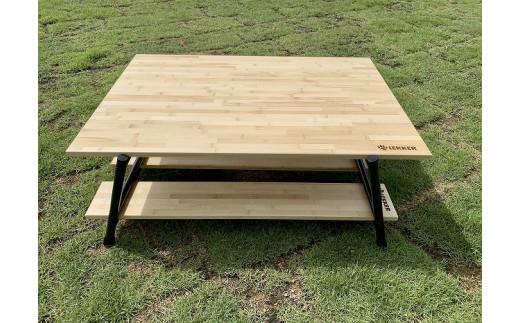 アウトドア用カーボンレッグテーブル620W(収納袋付き)[040K07]
