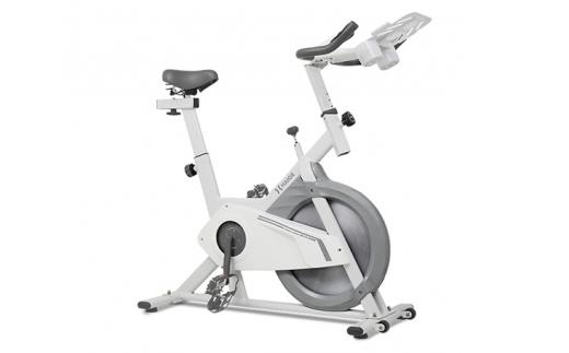 No.110 HG-YX-5006S-2N3 スピンバイク(グレー) / トレーニング エクササイズ リハビリ 健康 コンパクト 静音 無段階 群馬県 ※組み立て必要