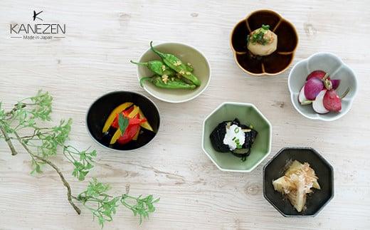A20-209 金善製陶所 豆小鉢 3種類 6点セット 有田焼