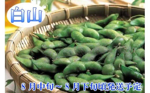 A01-644 【令和3年分先行予約】鶴岡特産 白山産だだちゃ豆(白山)  2kg(500g×4袋) 枝豆