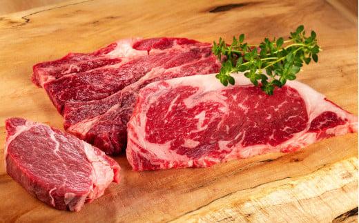 【赤身が美味い幻の国産和牛】山形村短角牛3種のステーキと焼肉セット