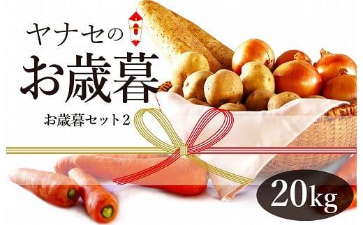 玉ねぎ・ジャガイモ・長芋などの野菜20kg 津別町からお届け!「お歳暮セット」