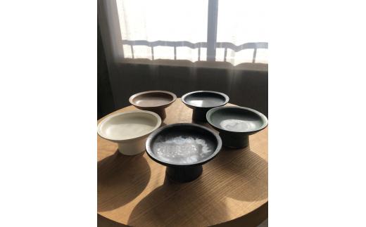 B-73 yoshida pottery 高坏皿(S) 2点set