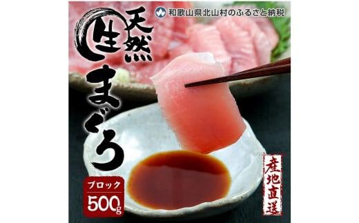生マグロ <冷蔵> ブロック 500g【数量限定/予約受付】