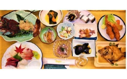 新鮮!魚料理が自慢のお宿「民宿はまけん」ペア宿泊券(一泊2食付き)