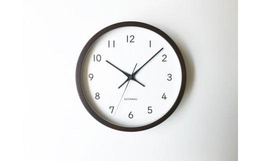【B-39】KATOMOKU ウォールナットの木枠電波時計