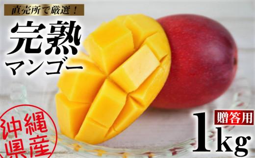 【2021年発送】直売所で厳選!沖縄県産「完熟マンゴー」1kg