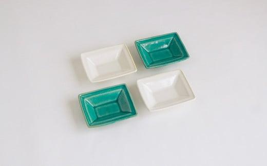 【Awabi ware】長方豆皿 4枚セット